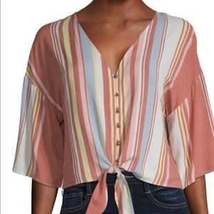 •STRIPPED BLOUSE•